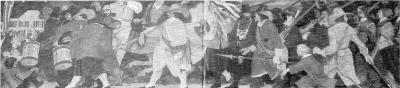 Gemälde eines historischen Schützenumzugs