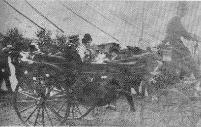 Franz I. (Mainz) und Julie I. (van Huet) auf dem Festplatz auf dem Randebrock
