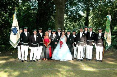 Die Offiziere der 1. Kompanie mit dem Königspaar 2005-2007