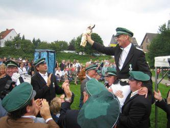 René Kuhn nach dem Vogelschießen