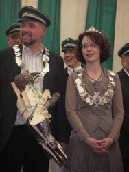 Das Königspaar Ulrich I. und Rotraut I. nach dem Vogelschießen